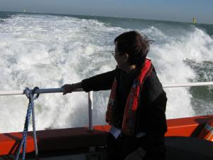 CTV at speed, Thames Estuary, 2012