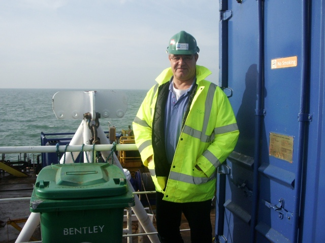 All at sea on UR101, cable laying Thanet OWF 2009