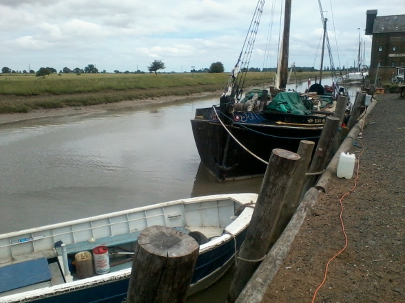 Faversham Creek from the quay. Off the tourist route and worth a visit.