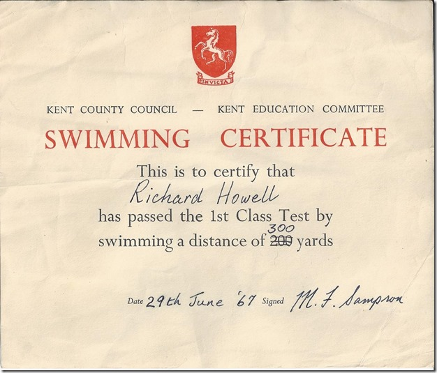 RGH swimming cert