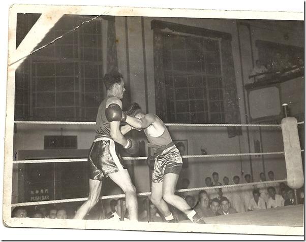 Dad boxer ring